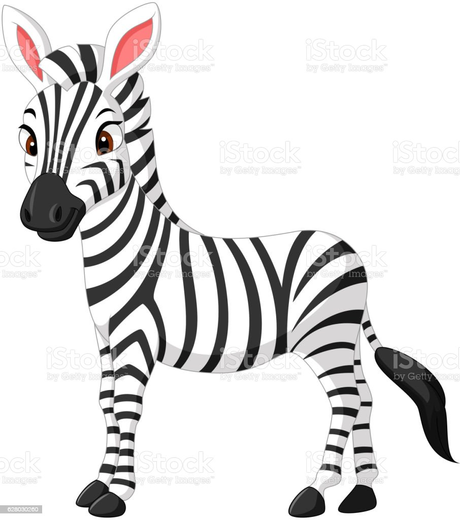 royalty free zebra profile clip art vector images illustrations rh istockphoto com cute zebra clipart black and white Cute Cartoon Zebra