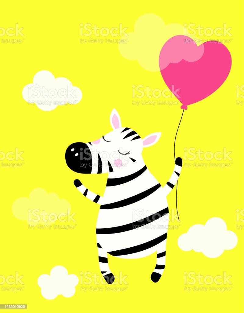 cute zebra isolated