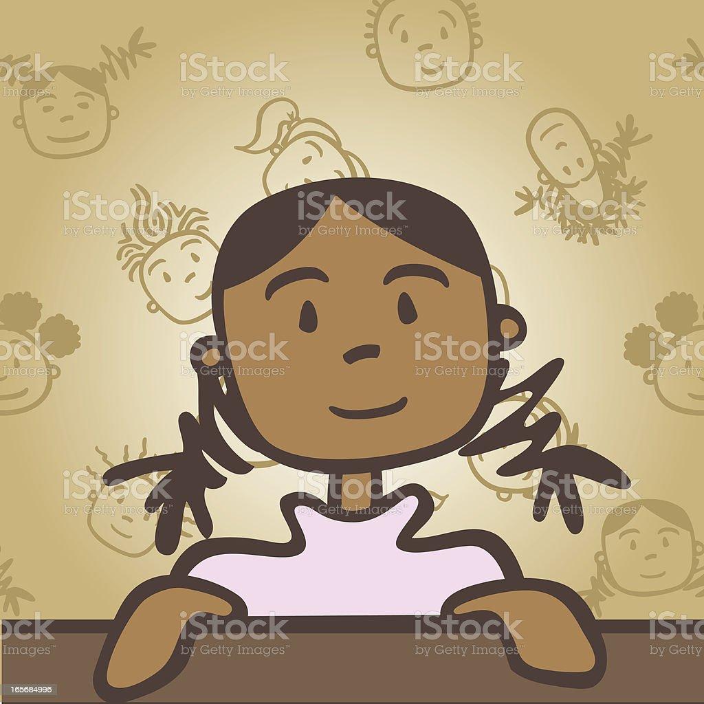 Cutie Girl royalty-free stock vector art