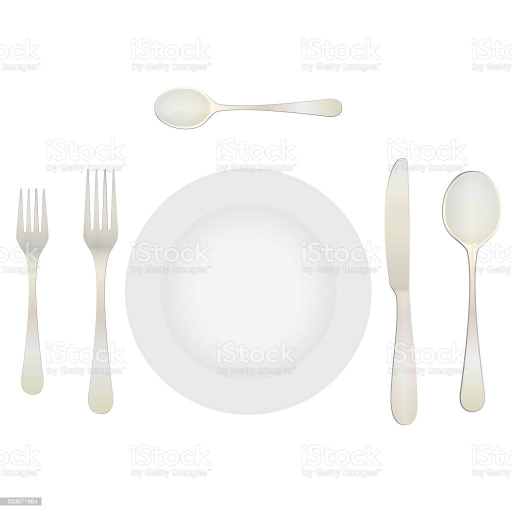 Gedeckter tisch gezeichnet  Gedeckter Tisch Von Oben Vektorgrafiken und Illustrationen - iStock
