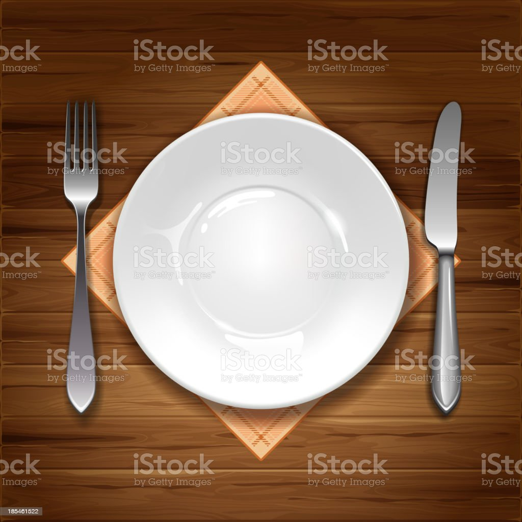 Cutlery and crockery set up on table vector royalty-free cutlery and crockery set up  sc 1 st  iStock & Cutlery And Crockery Set Up On Table Vector Stock Vector Art u0026 More ...