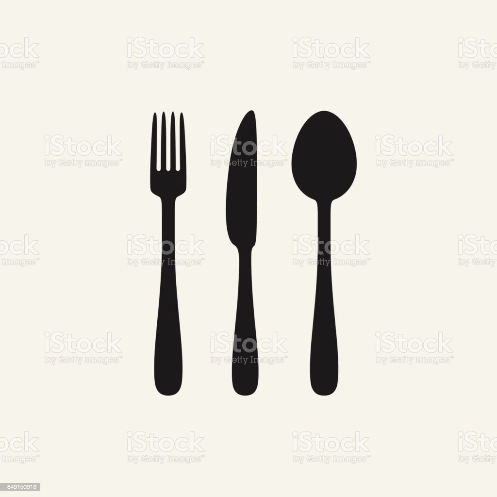 Cutlery black silhouettes