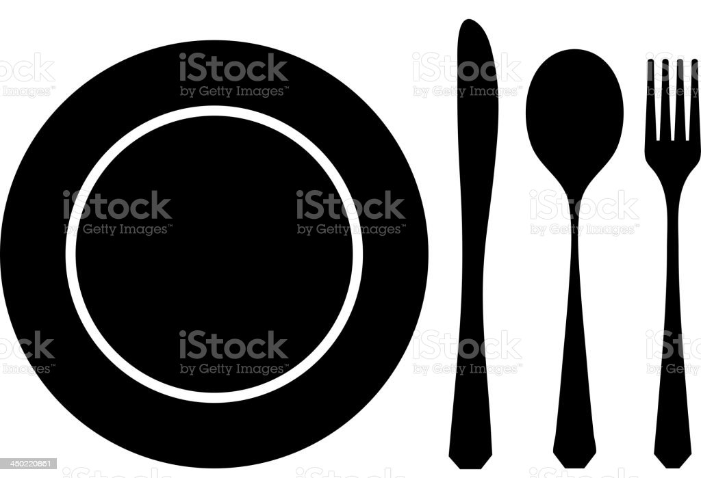 Cutlery black royalty-free stock vector art