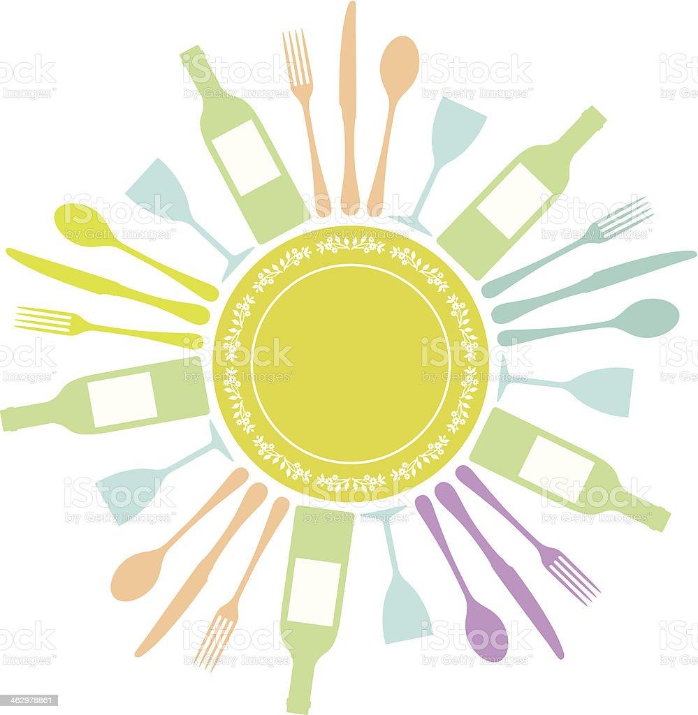 Cutlery circle royalty-free stock vector art