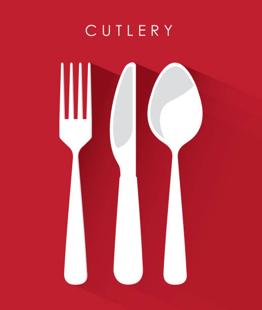 cutlery design vector art illustration