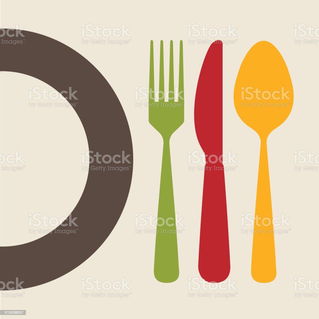 cutlery design vector art illustration