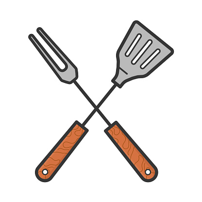 Cutlery for preparing barbecue