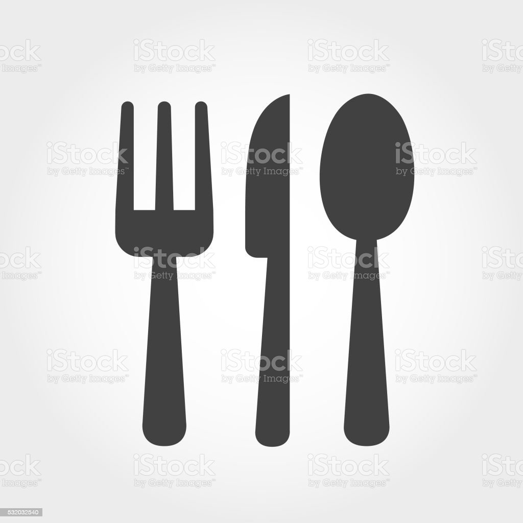 Cutlery Icon - Iconic Series vector art illustration