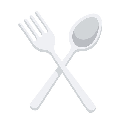Cutlery Icon on Transparent Background