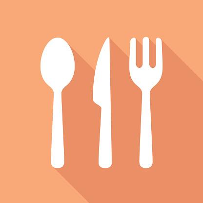 Cutlery Icon White