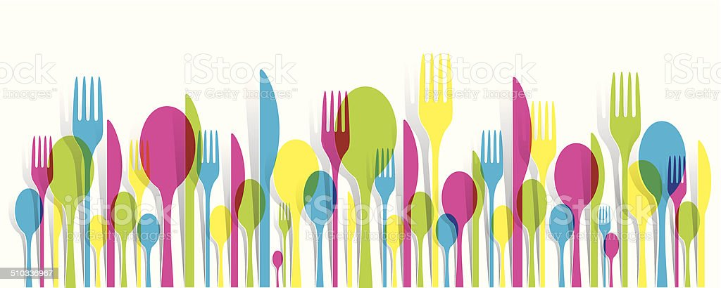 Cutlery Icons Set vector art illustration