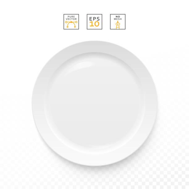 stockillustraties, clipart, cartoons en iconen met cutlery object realistic. plate isolated.   items realistic - tafel restaurant top