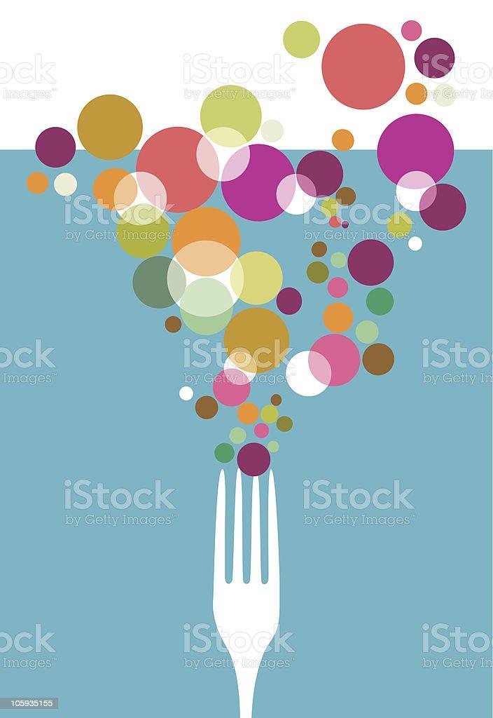 Cutlery restaurant design. vector art illustration
