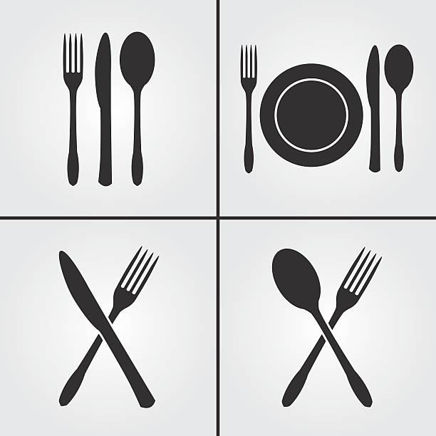 Besteck Restaurant Symbole – Vektorgrafik