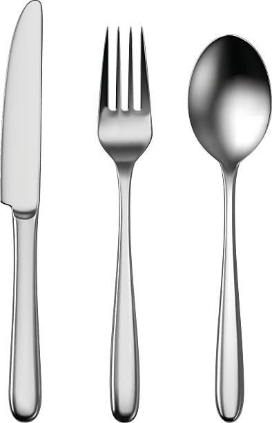 besteck - tafelbesteck stock-grafiken, -clipart, -cartoons und -symbole