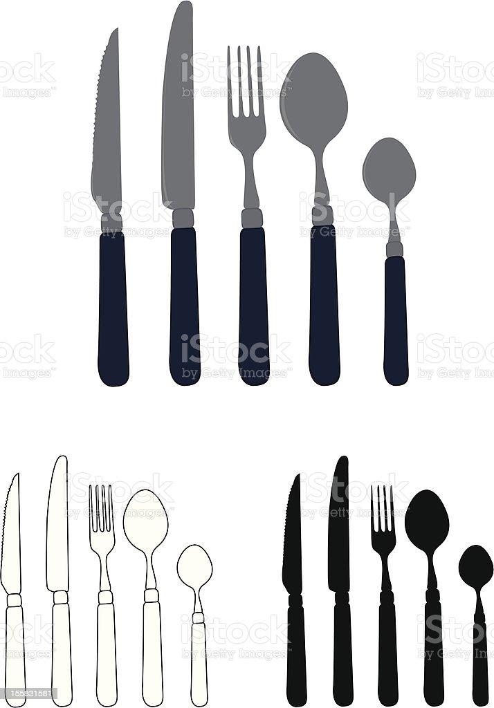 cutlery set royalty-free stock vector art
