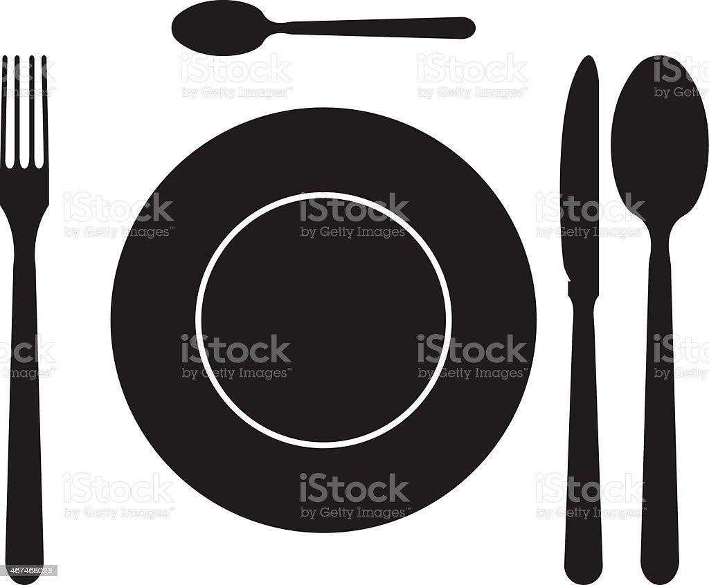 Cutlery set vector art illustration