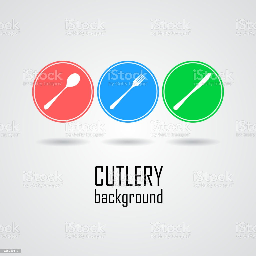 Cutlery Symbols Vector Art Illustration