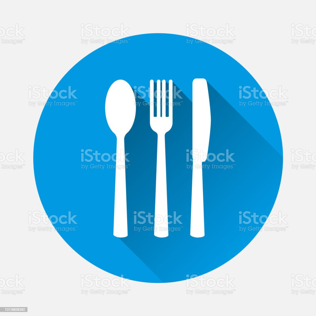 Cutlery Vector Icon Symbol Of A Cafe Restaurant Fork Knife And Spoon