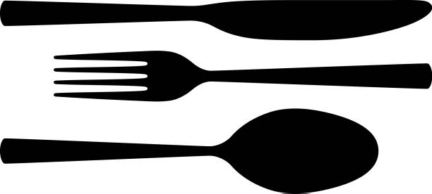 Cutlery Cutlery. fork stock illustrations