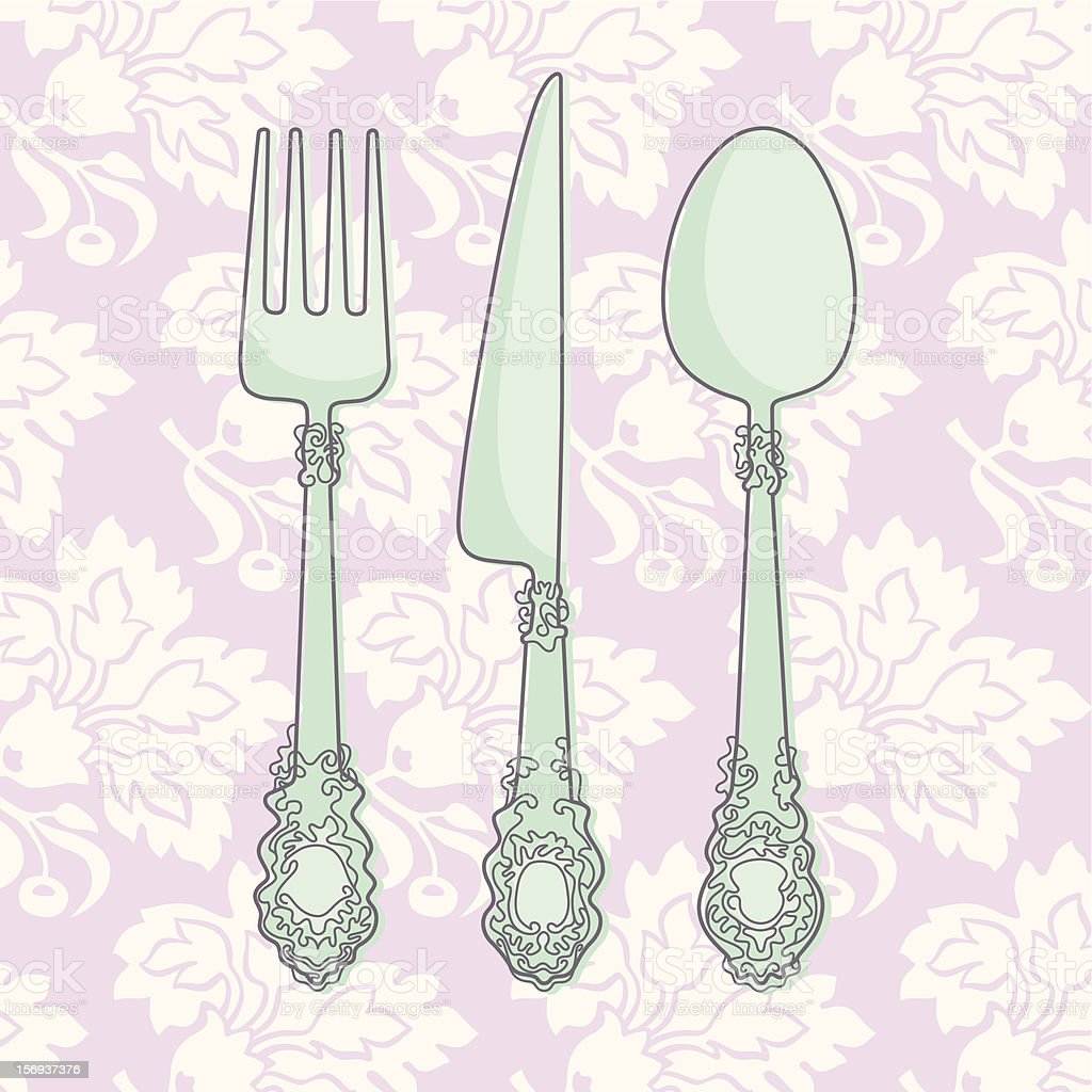 Cutlery royalty-free cutlery stock vector art & more images of antique
