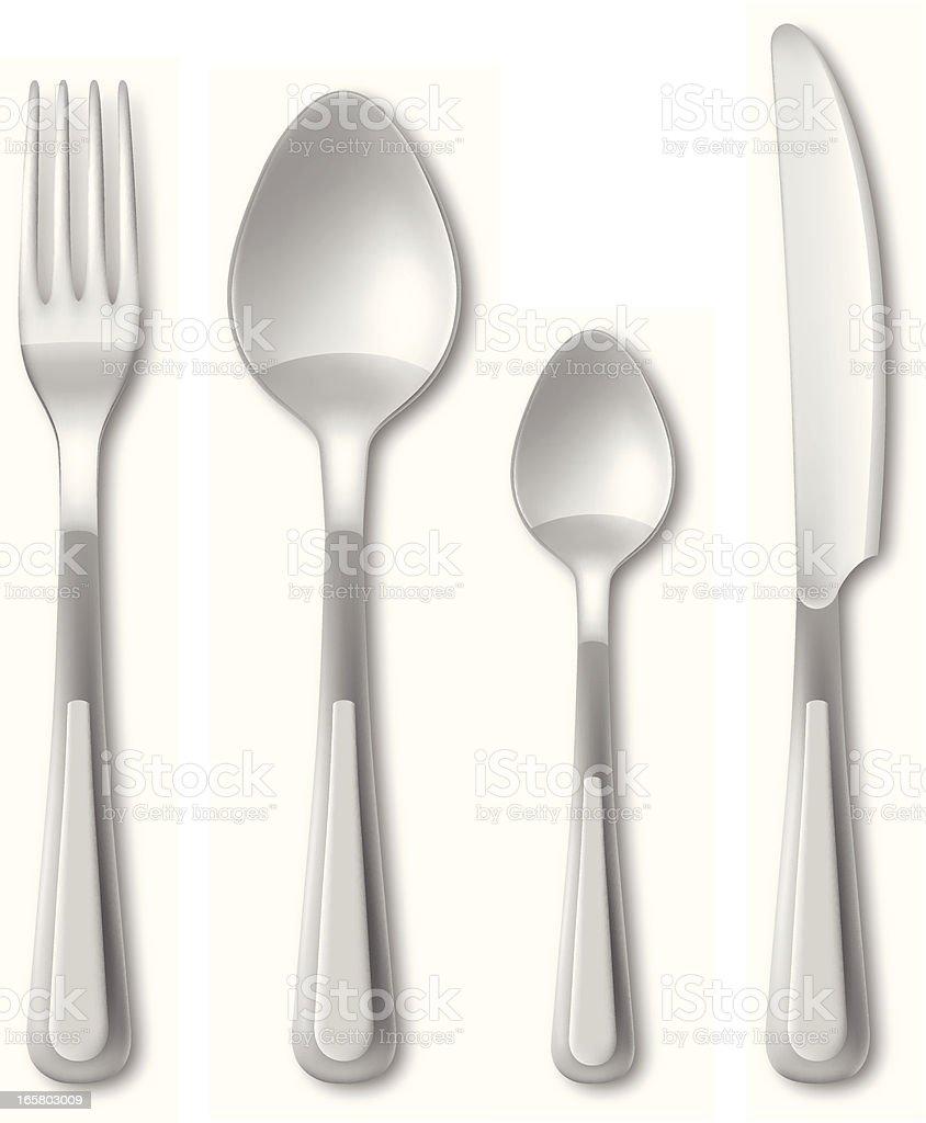 Cutlery royalty-free stock vector art