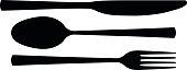Cutlery silhouette.