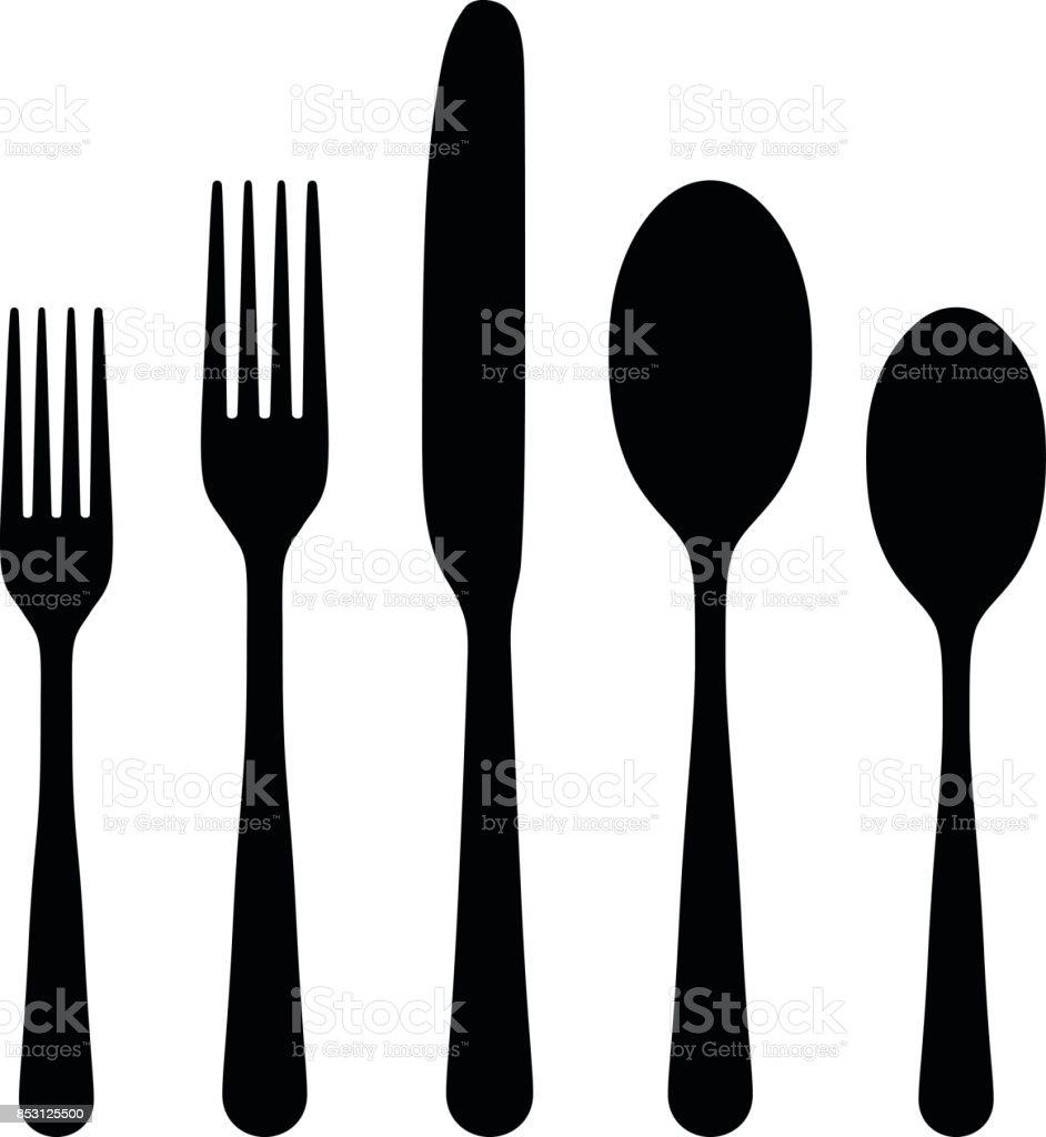 Cutlery vector art illustration