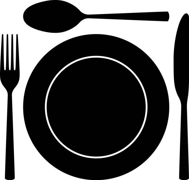 illustrazioni stock, clip art, cartoni animati e icone di tendenza di cutlery - forchetta