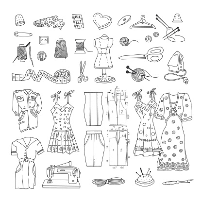 Cutting and sewing Doodle Set