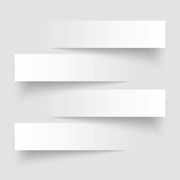 4 cutting banners on the grey background. Vector illustration. vector art illustration