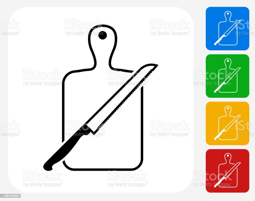 Schneidebrett clipart  Schneidebrett Und Messer Symbol Flache Grafik Design Vektor ...