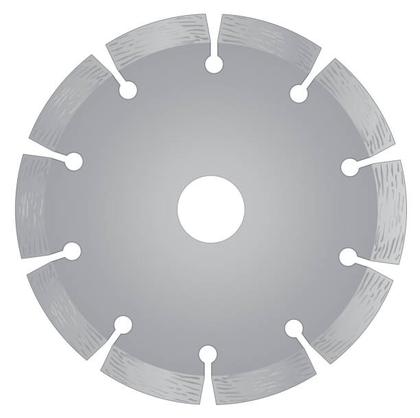Cutting disk with diamonds - Diamond disc for concrete on the white background Cutting disk with diamonds - Diamond disc for concrete on the white background vector eps 10 blade stock illustrations