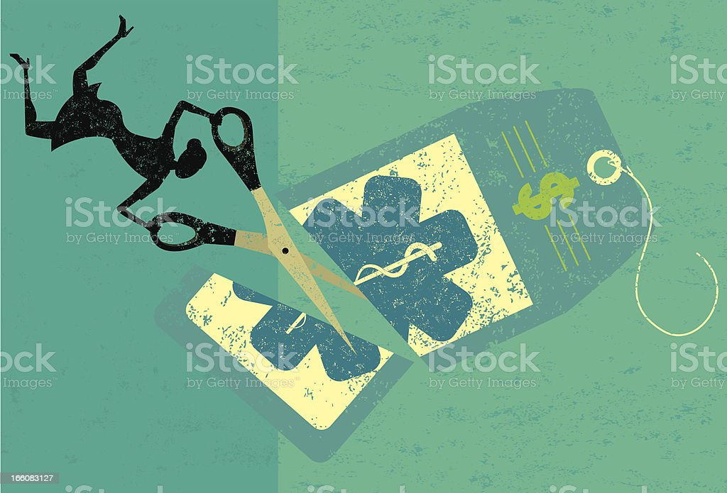 Cutting healthcare costs royalty-free cutting healthcare costs stock vector art & more images of adult