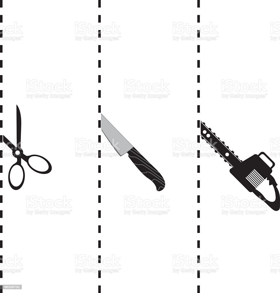 Cutting Lines royalty-free stock vector art