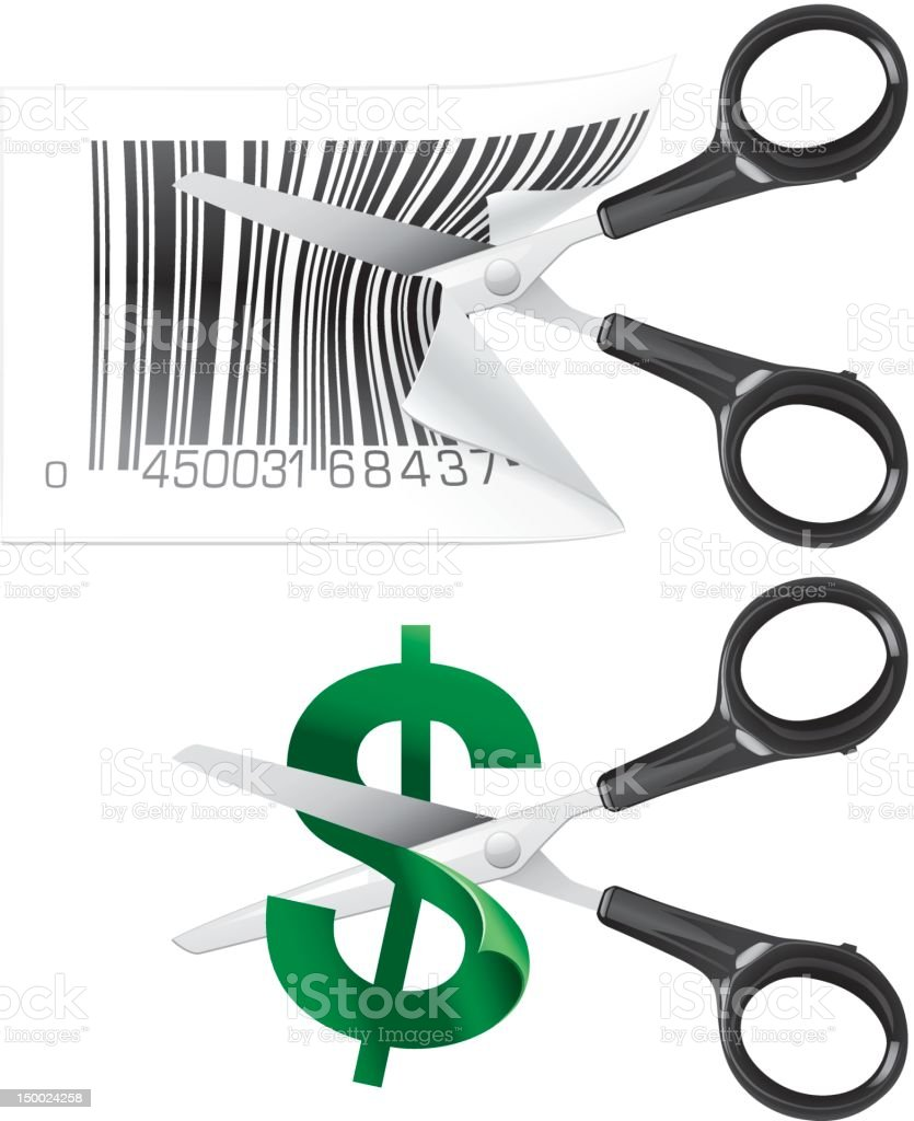 Cutting prices royalty-free stock vector art