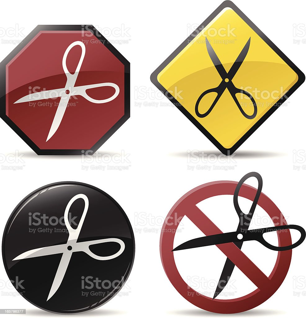 Cutting Scissors Symbols vector art illustration
