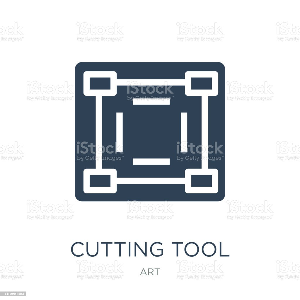 cutting tool selection icon vector on white background, cutting vector art illustration
