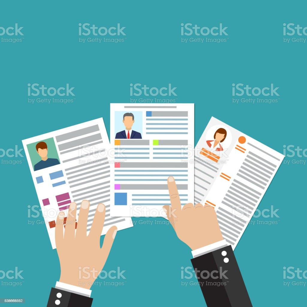 Cv Concepto Reanudar Con Foto Los Documentos - Arte vectorial de ...