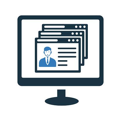 Cv, employment, job application, resume icon