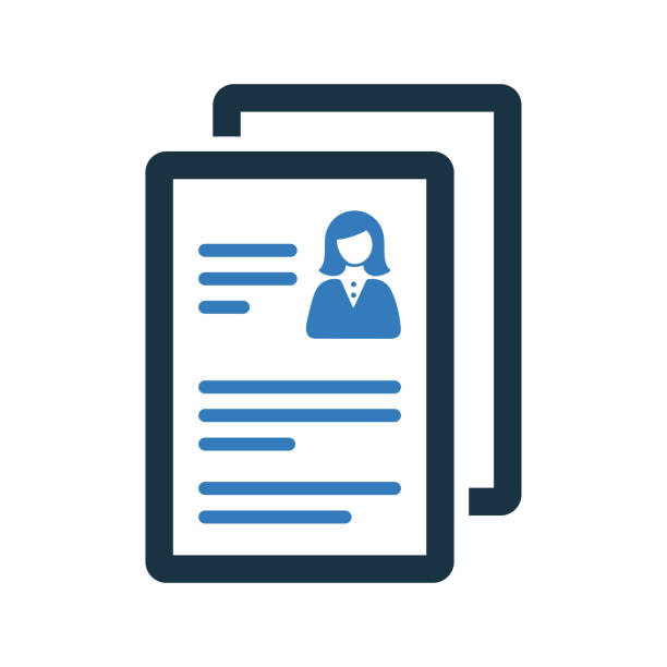 Cv, resume icon / vector graphics Cv, resume icon. Use for commercial, print media, web or any type of design projects. business cv templates stock illustrations