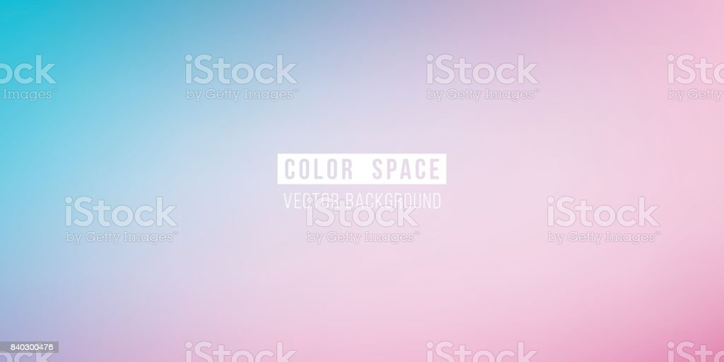 Cyan Pink Soft Color Space Defocus Smooth Gradient Background vector art illustration