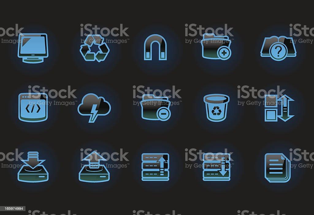 Cyber bat – Implementator icons royalty-free stock vector art