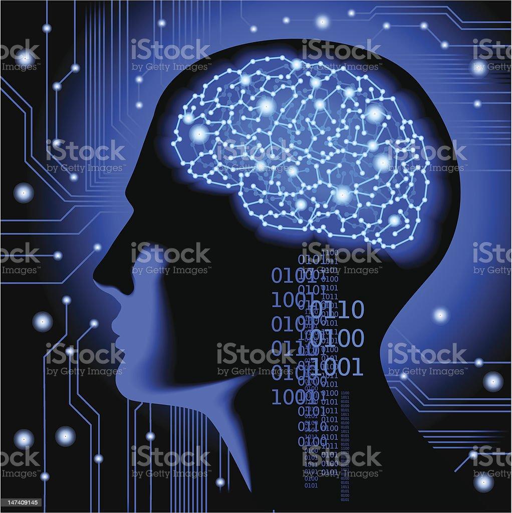 Cyber brain royalty-free stock vector art