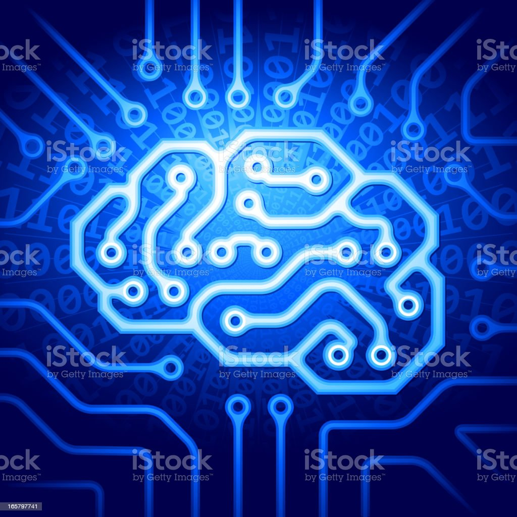 Cyber brain royalty-free stock vector art