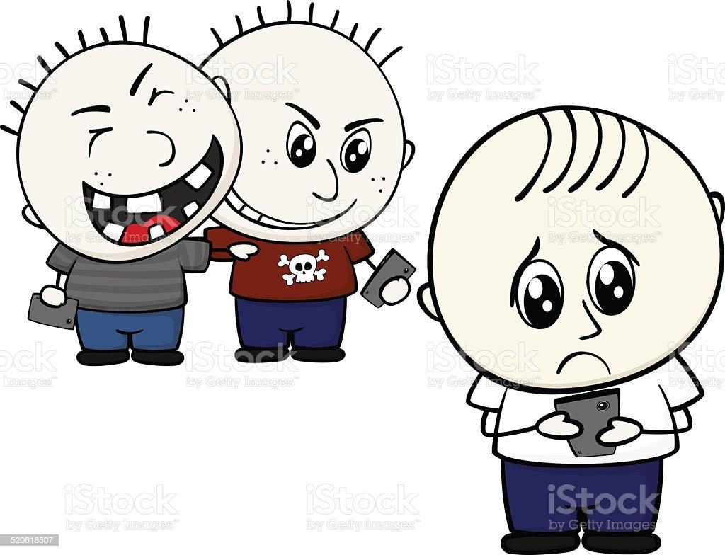 cyber bullying vector art illustration