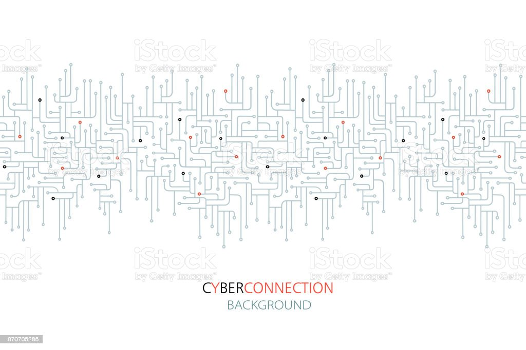 Cyber Connection Electronic Circuit Background Stock Vector Art ...