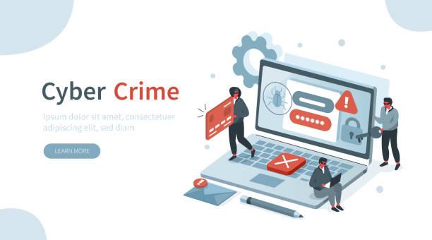 ilustraciones, imágenes clip art, dibujos animados e iconos de stock de ciberdelincuencia - robo de identidad