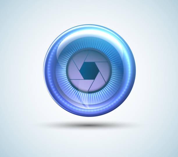 Cyber Eye isoliert mit Schatten – Vektorgrafik