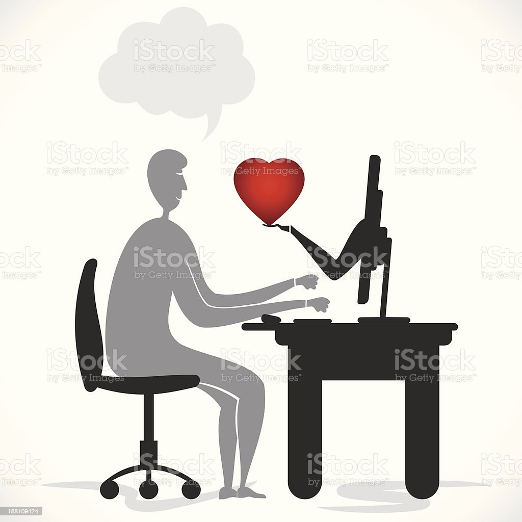 cyber love or dating royalty-free cyber love or dating stock vector art & more images of adult